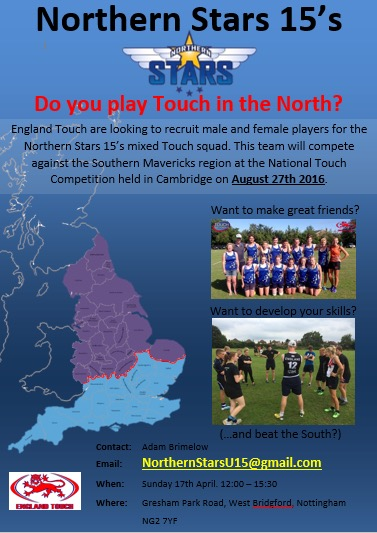 Northern Stars 15's Recruitment