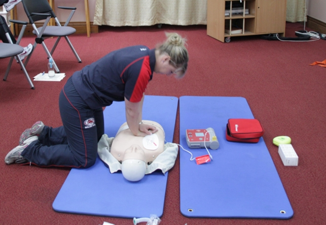 Physio Team Practicing CPR